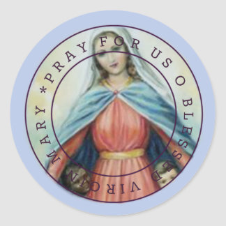 Blessed Virgin Mary with children Classic Round Sticker