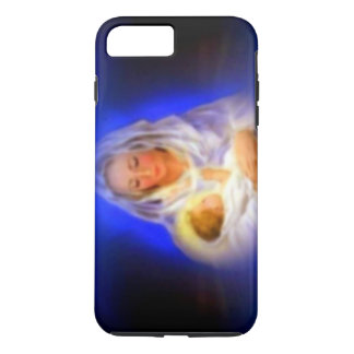Blessed Virgin Mary with Halo in Clouds iPhone 7 Plus Case