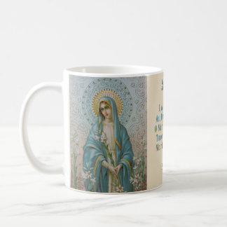 Blessed VIrgin Mary with  Lily Coffee Mug