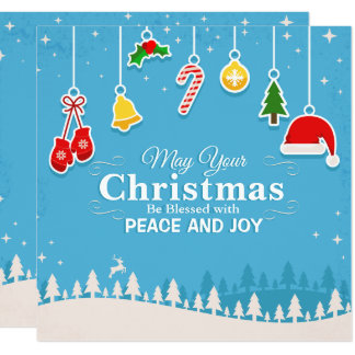 Blessed w/ Peace & Joy Christmas Party Invitation