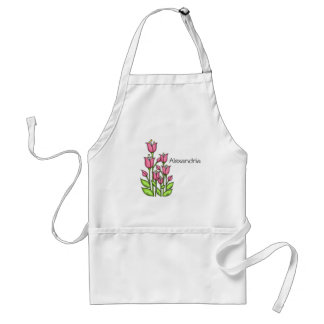 Blessed Watercolor Doodle Flower Apron