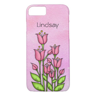 Blessed Watercolor Doodle Flower iPhone 7 Case