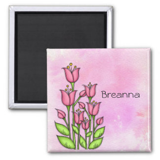Blessed Watercolor Doodle Flower Magnet