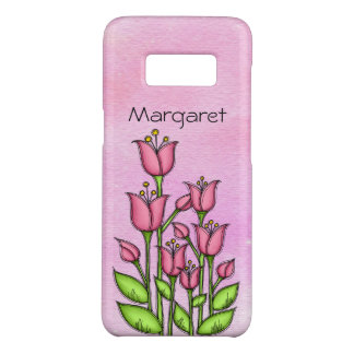 Blessed Watercolor Doodle Flower Samsung Case
