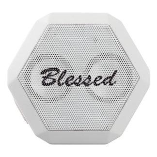 Blessed White Bluetooth Speaker