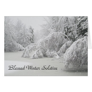 Blessed Winter Solstice Winter Forest Card