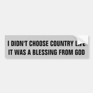 Blessed With Country Life Horse Trailer Bumper Sticker