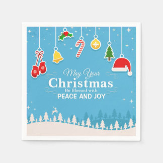 Blessed with Peace & Joy Christmas | Napkin Disposable Serviettes