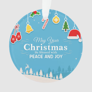 Blessed with Peace & Joy Christmas | Ornament