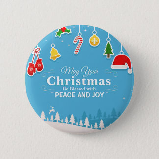 Blessed with Peace & Joy Christmas | Pin Button