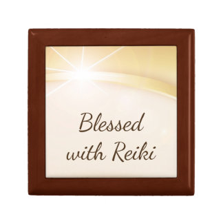 Blessed with Reiki Small Square Gift Box