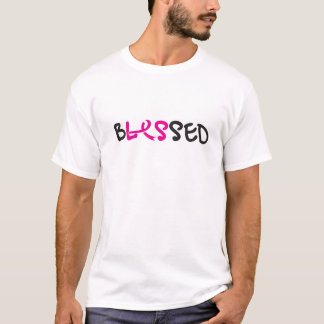 bLESsed wmns/white front&back T-Shirt
