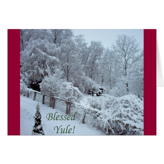 Blessed Yule Card