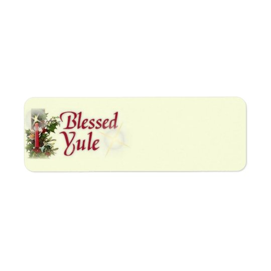 Blessed Yule Labels