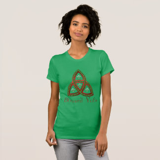 Blessed Yule Ladies Jersey T-Shirt