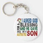 Blessing 5 SON Autism T-Shirts & Apparel Basic Round Button Key Ring