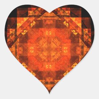 Blessing Abstract Art Heart Sticker