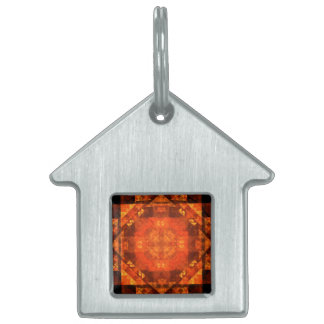 Blessing Abstract Art House Pet ID Tag