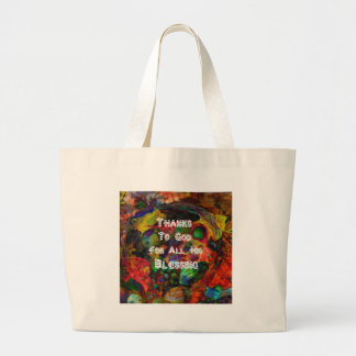 Blessing and happy Thanksgiving Jumbo Tote Bag