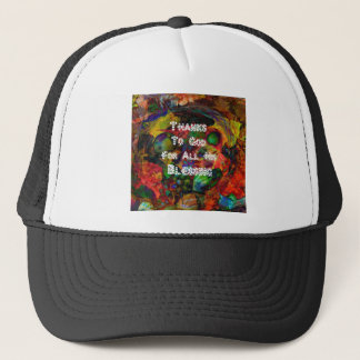 Blessing and happy Thanksgiving Trucker Hat