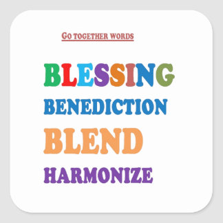 Blessing Benediction Blend Harmonize Christ BABY Stickers