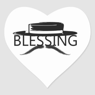 Blessing in Disguise copy.jpg Heart Sticker