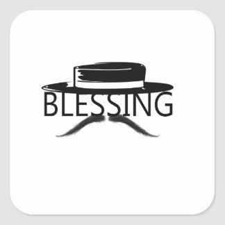 Blessing in Disguise copy.jpg Square Stickers