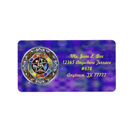 Blessing of Elements Address Label