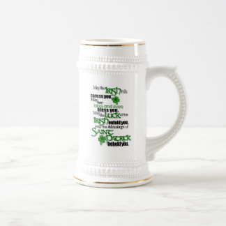 Blessing Of Saint Patrick Beer Stein