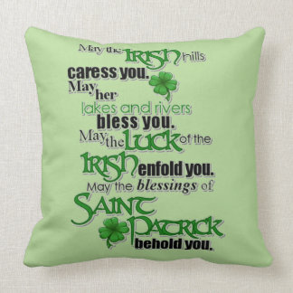Blessing Of Saint Patrick Cushion
