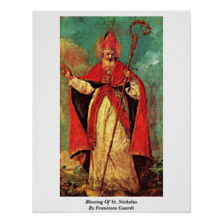 Blessing Of St. Nicholas By Francesco Guardi Poster