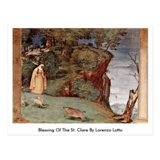 Blessing Of The St. Clare By Lorenzo Lotto Postcard