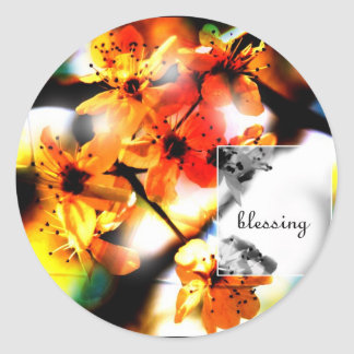 Blessing Round Stickers