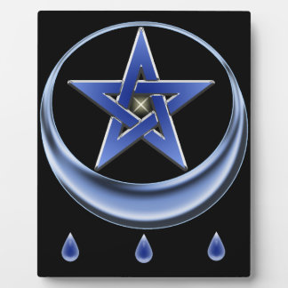 Blessing Symbol and pentagram Photo Plaques