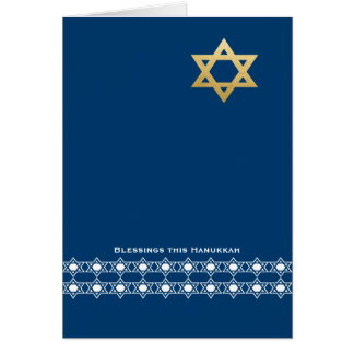 Blessing this Hanukkah Star of David Card