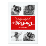 Blessings Collage | Holiday Photo Card 13 Cm X 18 Cm Invitation Card