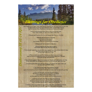 Blessings for Obedience Poster