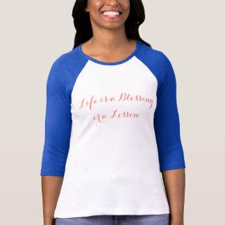 Blessings + Lessons, Women's 3/4 Sleeve T-Shirt