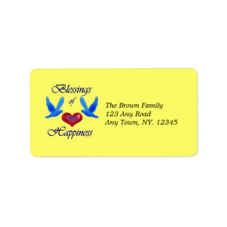 """""""Blessings of Happiness"""" Label"""