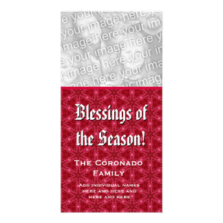 Blessings of the Season Photo Card Custom Name
