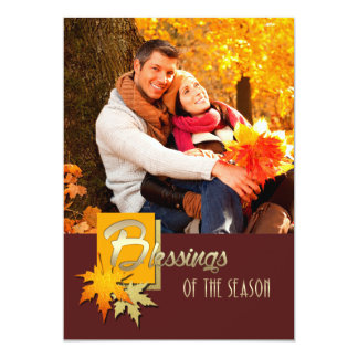 Blessings of the Season. Thanksgiving Photo Cards Personalized Invite