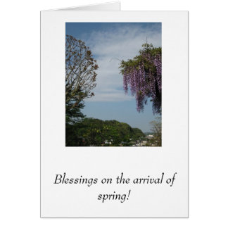 Blessings on the arrival of spring! card