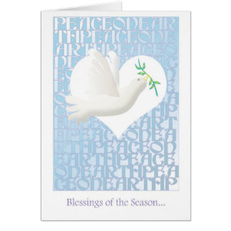 Blessings - Peace on Earth Holiday card