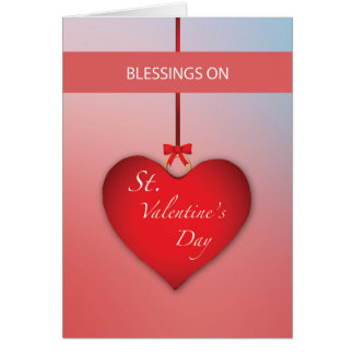 Blessings St. Valentine's Day Heart Card
