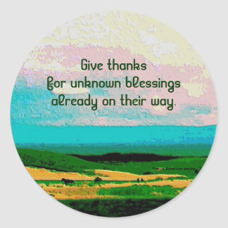 blessings round sticker