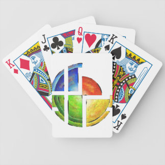 Blessinia - colourful sun bicycle playing cards