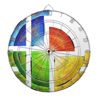Blessinia - colourful sun dartboard