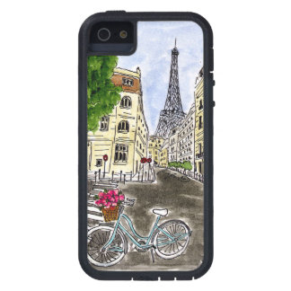 Bleu Bicycle Eiffel Case For iPhone 5