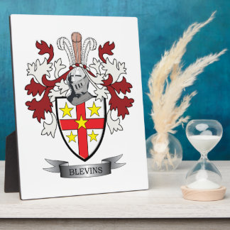Blevins Family Crest Coat of Arms Photo Plaques