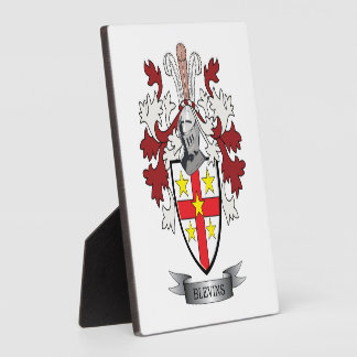 Blevins Family Crest Coat of Arms Plaque